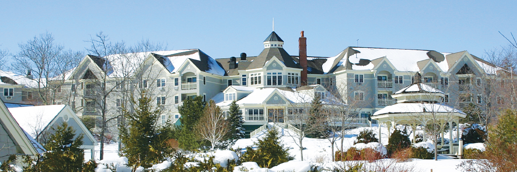 A sweeping view of Parker Inn during the Winter months.